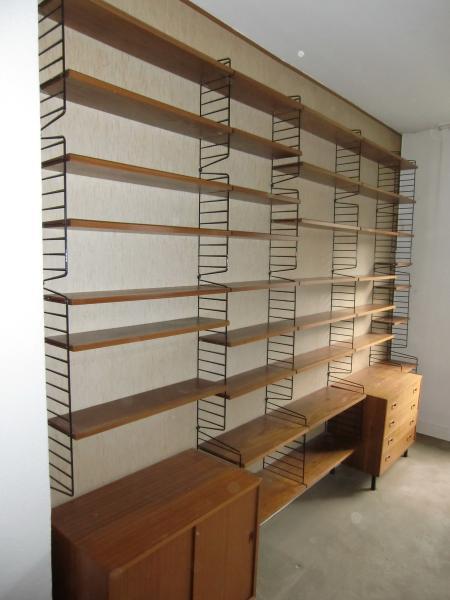 regal string ruempelstilzchen 60er string regal system teakholz nisse strinning. Black Bedroom Furniture Sets. Home Design Ideas