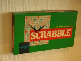 Scrabble Wanduhr | DIY