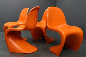 Panton Chair | Orange | Miller | Fehlbaum