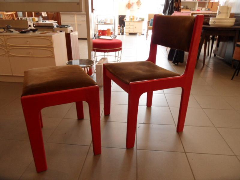 ruempelstilzchen stylischer k chentisch 6 st hle u hocker 70er jahre. Black Bedroom Furniture Sets. Home Design Ideas