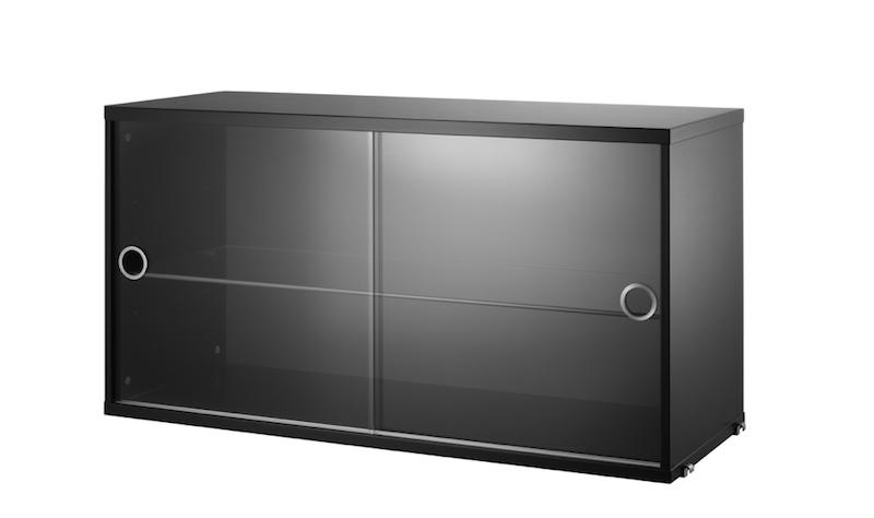 ruempelstilzchen string regalsystem vitrinenschrank schwarz. Black Bedroom Furniture Sets. Home Design Ideas