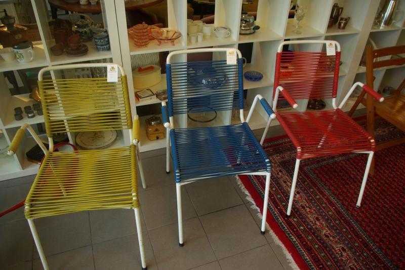 ruempelstilzchen 3 stahlrohrst hle aus den 60ern. Black Bedroom Furniture Sets. Home Design Ideas