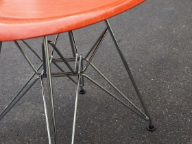 Fiberglass Sidechair DSR | Orange | Eames
