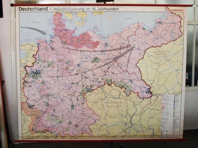 Arbeitsblatt Industrialisierung In Deutschland : Ruempelstilzchen schulwandkarte deutschland