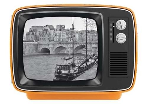 ruempelstilzchen retro fernseher als bilderrahmen orange gro werkhaus. Black Bedroom Furniture Sets. Home Design Ideas