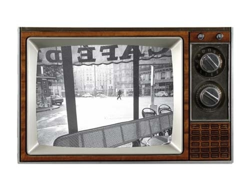 ruempelstilzchen retro fernseher als bilderrahmen braun gro werkhaus. Black Bedroom Furniture Sets. Home Design Ideas
