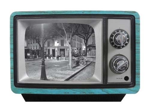 Werkhaus Bielefeld ruempelstilzchen retro fernseher als bilderrahmen türkis groß