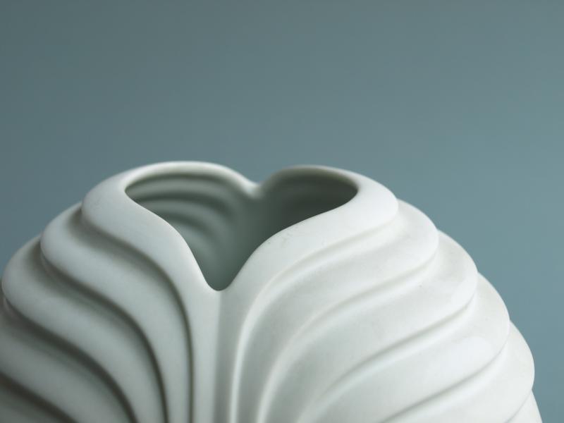 ruempelstilzchen weisse vase rosenthal 70er. Black Bedroom Furniture Sets. Home Design Ideas