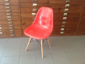 Fiberglas Side Chair DSW rot | Eames |1950