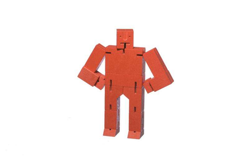 Micro Cubebot | Areaware | Buchenholz rot