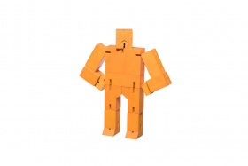 Micro Cubebot | Areaware | Buchenholz orange
