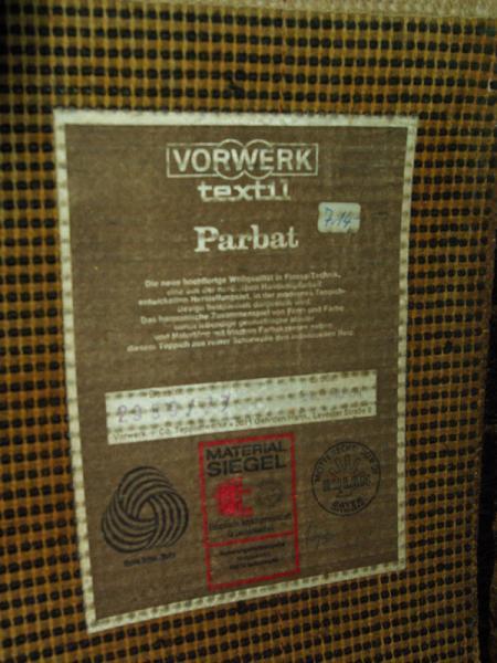 Ruempelstilzchen  70er Jahre Vorwerk Teppich  Panton