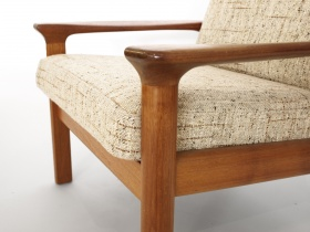 Highback Sessel & Hocker | Teak | Glostrup | 60er