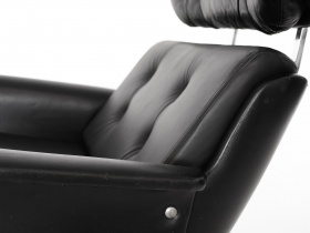 Loungechair | Leder & Chrom | 70er
