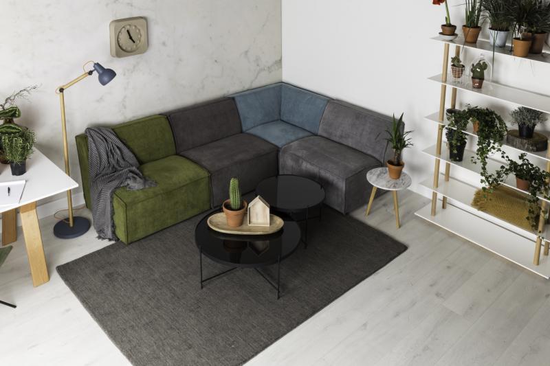 ruempelstilzchen sofa aus cord james von zuiver bunt. Black Bedroom Furniture Sets. Home Design Ideas