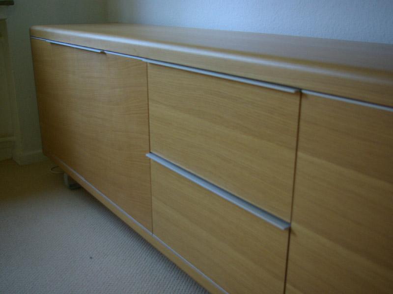 ruempelstilzchen xxl sideboard anrichte eiche hell und aluminium. Black Bedroom Furniture Sets. Home Design Ideas