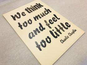 Druck | We think too much | Mariusz Kuklik | letterpress