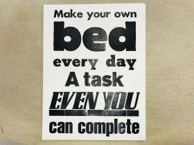 Druck | Make your bed | Mariusz Kuklik | letterpress