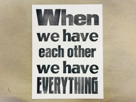 Druck | each other | Mariusz Kuklik | letterpress