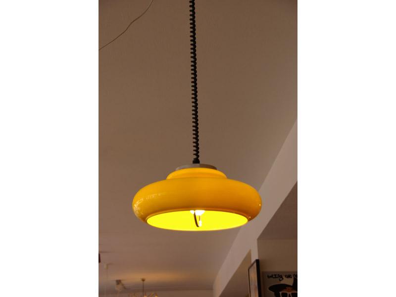 ruempelstilzchen 70er jahre lampe gelb. Black Bedroom Furniture Sets. Home Design Ideas
