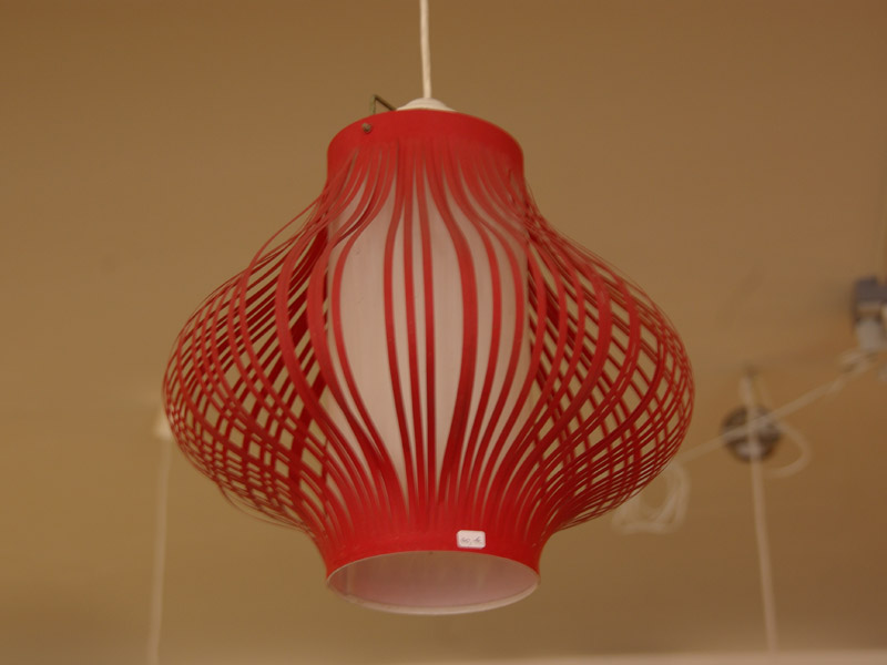 ruempelstilzchen 60er jahre deckenlampe rot. Black Bedroom Furniture Sets. Home Design Ideas