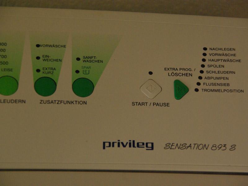 Ruempelstilzchen privileg toplader waschmaschine sensation 893s